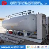 20000liters LPGのスキッドタンク、20m3給油所、二重ノズルディスペンサーが付いている10tonsガスタンク