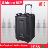 Shinco Professional Wireless Bluetooth караоке тележка для использования вне помещений 15''hifi-динамик