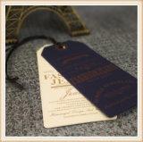 Бирки одежды бирки Hang мытья высокого качества изготовленный на заказ напечатанные внимательностью