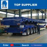 Titan-Fahrzeug-Halb-Niedriges Bett mit hydraulischer Laden-Rampe mit führendem Gang 40 Tonne für Verkauf