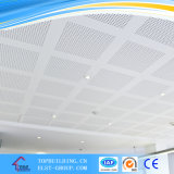 Tuile perforée de plafond de gypse de la tuile 600*600*9mm/PVC de plafond de gypse stratifiée par PVC
