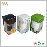 Rectángulo de los productos del cuidado médico con la ventana plástica y la guarnición del PVC