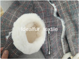 極度の柔らかい模造ウサギの毛皮100%のアクリルの偽造品の毛皮ののど動物の毛皮