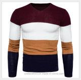 Équipe le chandail tricoté par pull de V-Collet d'usure d'automne de l'hiver