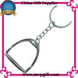 Cadeia chave em branco de metal com corda Keyring Dom