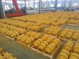 Le train d'atterrissage de bouteur d'excavatrice de machines de construction partie le rouleau de piste/rouleau inférieur Daewoo/Doosan Dh130