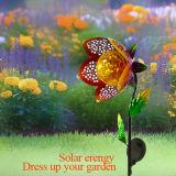 빛이 태양 철 메시 예술에 의하여 꽃이 핀다