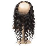 خطّ شعريّ طبيعيّ مع طفلة شعب 360 شريط موجة أماميّ سائب