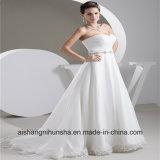 Роскошное платье венчания a замужества робы - линия совершенная мантия венчания планки