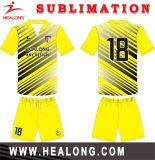 Helaong 주문 형식 작풍 빨강과 까만 색깔 팀 착용 축구 세트