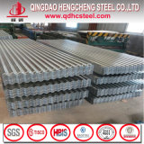 Tôle d'acier ondulée galvanisée de zinc de toit d'IMMERSION chaude