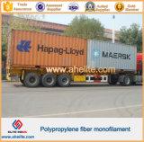 Aditivo de hormigón PP malla de fibra de refuerzo para el hormigón