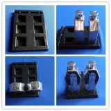 Le plateau noir de boursouflure de PVC pour l'insertion met le plateau en plastique de boursouflure