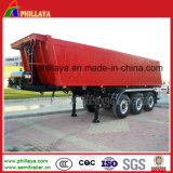 Square Box를 가진 세 배 Axle 35m3 End Dump Semi Trailer