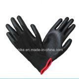 Черный провод фиолетового цвета с покрытием из нейлона рабочие перчатки