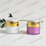 化粧品の包装のための15gアクリルの空気のないクリーム色の瓶(PPC-NEW-027)