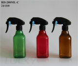 200ml Square Plastic Pet Sprayer Bottle in Varous Color Rd-200ml-C