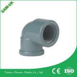 Vinil Gutter & Downspout Fabricante PVC Tubo quadrado Fittings Down Pipe Elbow -90 Deg Diverter