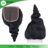 La máxima calidad femenina barata Remy cierre de los encajes de cabello humano.