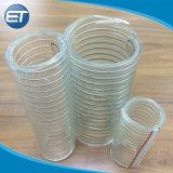 透過ライトPVCプラスチック螺線形の鋼線のサクションパイプの管のホース