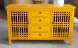 Китайский шведский стол желтого цвета античной мебели