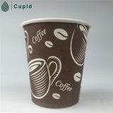 Pared simple café a ir taza de papel para la máquina expendedora