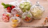 Maak de Kruik van het Glas met Dekking voor de Prijs van de Fabriek van de Opslag dik