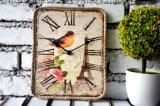 Klok van de Kunst van de Klok van de douane de Houten Vierkante Antieke