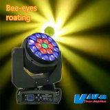 Rotation LED 19x15W Bee yeux bouger Head Light éclairage de scène.