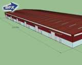 Large-Span almacén frío de acero estructuras de edificios