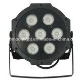 Guangzhou Stage Light 4in1 7X10W RGBW LED Flat PAR Wash Light
