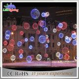 Im Freien buntes Dekoration-Weihnachtsgrosse Kugel-Lichter LED-3D