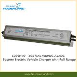 120W 90 - 305 Vac/48 VDC AC/DC Carregador de baterias para veículos eléctricos com gama completa
