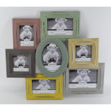 Wooden novo Distressed Photo Frame em Multiple Opening