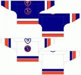 Hokey di ghiaccio domestico personalizzato della strada degli isolani 1981-1983 occidentale di Nanaimo della Lega di Hockey dei capretti delle donne degli uomini Jersey