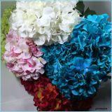 결혼식 훈장 도매업자를 위한 가짜 Hydrangea가 실크 인공적인 꽃다발에 의하여 꽃이 핀다