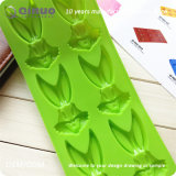 Molde verde 24*10*1.3cm do cozimento da borracha de silicone do alimento de coelho