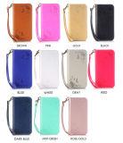 Магнитное щелчковое iPhone 7/6s/6 аргументы за телефона кожи бумажника Flip