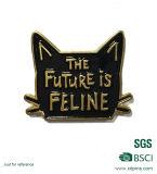 De Metal personalizados Soft enamel Cat Collar de Oro insignia de solapa Pin distintivo de metal (W-81)