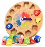 Brinquedo de madeira do pulso de disparo da forma de Digitas do bebê dos desenhos animados por 2-5 anos velho