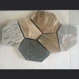 Natürliches Gelbes/Grün/graue/rustikale/schwarze Quarzit-Schiefer-Fliese