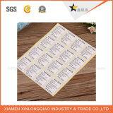 Blanco de vinilo etiqueta de papel de impresión de etiquetas auto-adhesivo de la etiqueta