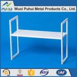 3 Schichten weißes Metallorganisator-Regal-