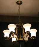 ヒスイの陰が付いている現代銅の装飾的な据え付け品のペンダント灯