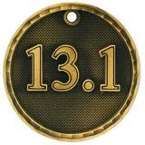Antikes Messingsport-Metallmarathon-Medaillen-Medaillen-Rahmen Keychain Firmenzeichen