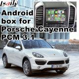 Surface adjacente visuelle de navigation androïde de véhicule pour la navigation de contact de mise à niveau de Porsche Macan Cayenne Panamera, WiFi, BT, Mirrorlink, HD 1080P