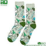 Dinosaurier-Muster-Karikatur-Großverkauf-Baumwollmann-Socken