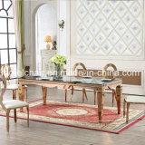 Commerce de gros en or rose une table à manger en acier inoxydable pour la vente