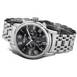 贅沢なステンレス鋼の大きいダイヤルビジネスRelogios Masculinoの機械多機能の人のスポーツの腕時計