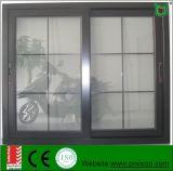 Wärmeübertragung-schiebendes Aluminiumfenster mit Gitter-Entwurf